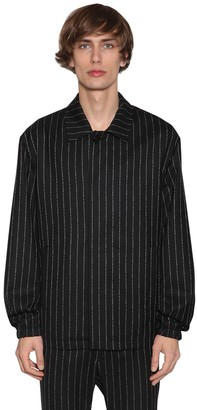 Alyx Logo Pinstripe Cashmere & Wool Jacket