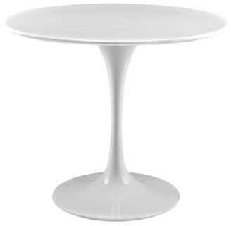 """Modway Lippa 36"""" Dining Table in White"""