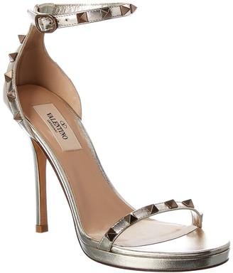 Valentino Rockstud Leather Ankle Strap