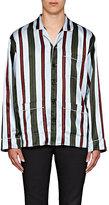 Burberry X Barneys New York Men's Striped Silk-Cotton Pajama Shirt
