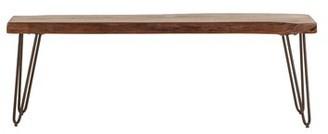 Nikhil Wood Bench Union Rustic Color: Walnut
