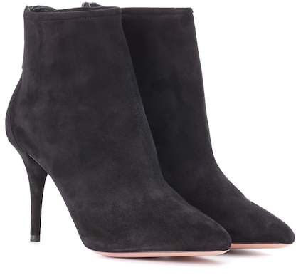 Aquazzura Brook 85 suede ankle boots