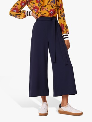 French Connection Boh Whisper Cropped Flare Trousers, Nocturnal