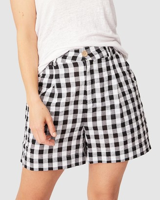 Ceres Life - Women's Black High-Waisted - Gingham Shorts - Size 10 at The Iconic
