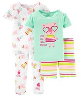 Toddler Girls' Snug Fit Cotton 4-Piece Print Pajama - Just One You Made by Carter's®
