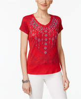 Style&Co. Style & Co Style & Co Petite Embroidered Graphic T-Shirt, Created for Macy's