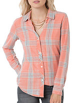 O'Neill Birdie Plaid Button Down Top