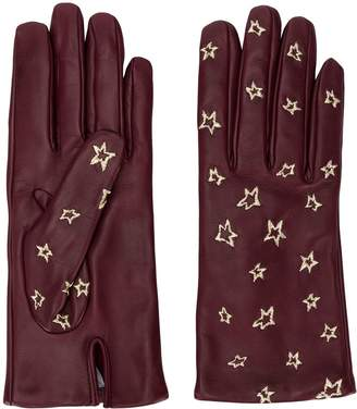 Paul Smith star embroidered gloves