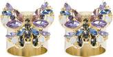 Joanna Buchanan Jewelled Butterfly Napkin Ring - Set of 2 - Pink
