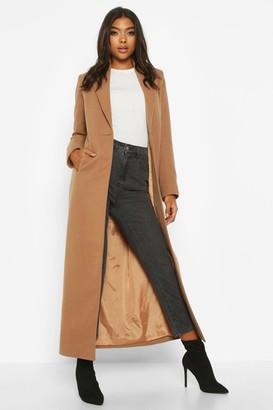 boohoo Tall Full Length Wool Look Coat