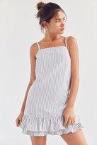 Kimchi & Blue Kimchi Blue Striped Ruffle-Hem Mini Dress