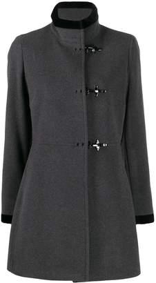 Fay velvet trimmed single breasted coat