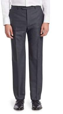 Emporio Armani Chevron Flat Front Trousers