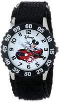 Disney Kids' W000975 Mickey Stainless Steel Time Teacher Watch with Nylon Strap