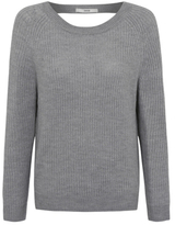 George Cut-Out Back Ribbed Jumper