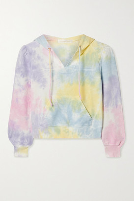 LoveShackFancy Kirby Cropped Tie-dyed Cotton-jersey Hoodie - Pink