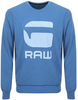 G Star Raw Core Art Sweatshirt Blue