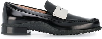 Tod's Contrast Penny Bar Loafers