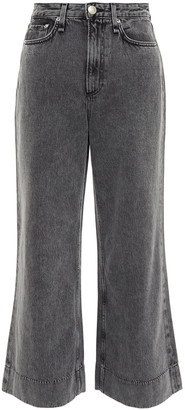 Rag & Bone Faded High-rise Wide-leg Jeans
