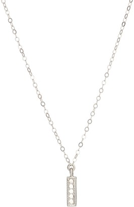 Anna Beck Sterling Silver Mini Vertical Bar Necklace