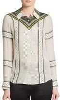 Derek Lam 10 Crosby Printed Long Sleeve Shirt