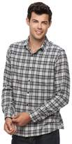 Apt. 9 Men's Modern-Fit Plaid Brushed Flannel Button-Down Shirt