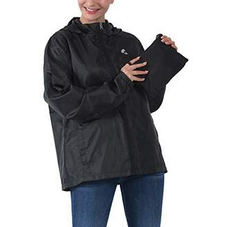 Common District Womens Girls Waterproof Lightweight Rain Jacket Active Outdoor Hooded Raincoat S