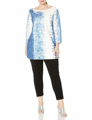 Joan Vass Women's Plus Size Sequin Tunic