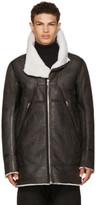 Rick Owens Black Shearling Showtek Jacket