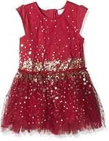 Pumpkin Patch Girl's Tulle Sequin Dress,(Manufacturer Size:4)