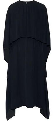 Valentino Cape-effect Silk Crepe De Chine Midi Dress