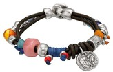 Uno de 50 Thunderbolts Beaded Leather Bracelet