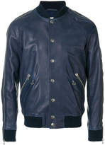 Pierre Balmain zip leather bomber jacket