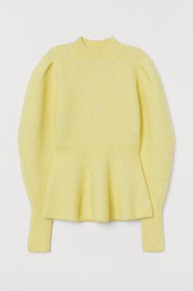 H&M Wool-blend Peplum Sweater