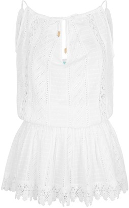 Melissa Odabash Chelsea embroidered cotton mini dress