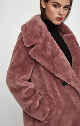 BCBGMAXAZRIA Faux Fur Coat