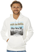 Hurley Surf Club Signia Photo Pullover Mens Fleece Grey