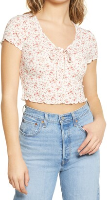 ALL IN FAVOR Pointelle Crop Top