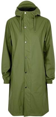 Rains Fishtail Green Rubberised Raincoat