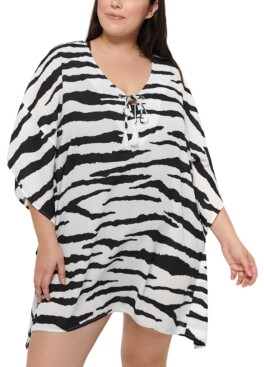 Dotti Plus Size Spell Bound Caftan Cover-Up Women's Swimsuit