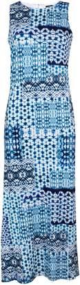 Wallis Blue Tie Dye Printed Maxi Dress