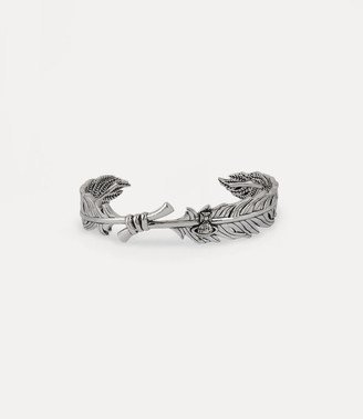 Vivienne Westwood Man. Eugenio Open Bangle Silver-Tone