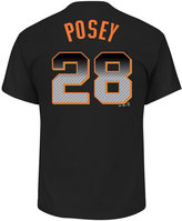 Majestic Men's Buster Posey San Francisco Giants Carbon Fiber Player T-Shirt