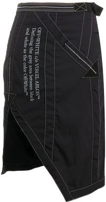 Off-White Side-Vent Asymmetric Skirt