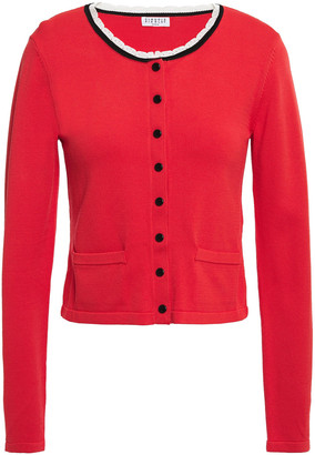 Claudie Pierlot Scalloped Stretch-knit Cardigan