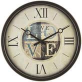 Asstd National Brand FirsTime Live Laugh Love Wall Clock