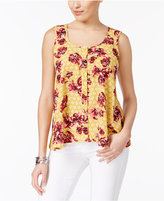 Style&Co. Style & Co Printed Sleeveless Blouse, Created for Macy's