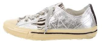 Golden Goose Metallic V-Star 2 Sneakers