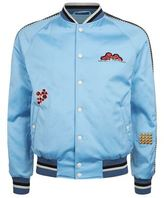 Lanvin Embroidered Patch Varsity Jacket