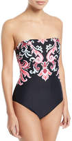 Kate Spade Oasis Beach Strapless Bandeau One-Piece Swimsuit